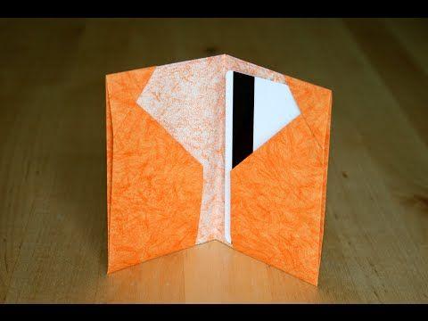 Origami - Porte-cartes - Cards Holder [Senbazuru] - YouTube
