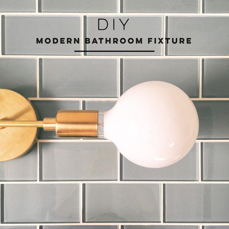 Lighting DIY | Modern Bathroom Fixture