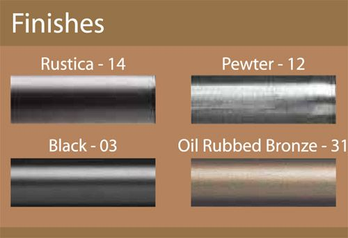 Custom 1 iron curtain rod in 4 finishes extra long available iron ball iron oil rubbed - Custom iron curtain rods ...
