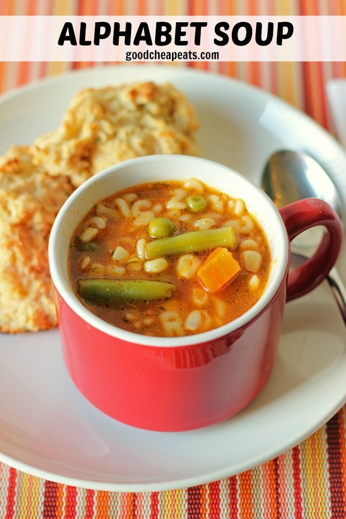 Alphabet Soup | Good Cheap Eats - Have a hankering for that Vegetable Alphabet Soup from your childhood? You can make it yourself, without the help of a can. Just good food.