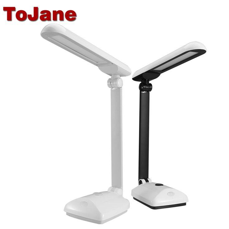 29.57$  Buy now - http://alip1d.shopchina.info/go.php?t=32792019967 - ToJane TG2309 Dimmable Led Desk Lamp Eye Protection Desktop Table Light Folding Arm Led Desk Light 9-Level Brightness&Color 8W  #buyonline