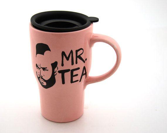 Mr. Tea travel mug. Ha! I pity the fool that doesn't like tea!  $20.00.