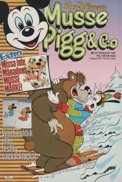 Cover for Musse Pigg & C:o (Hemmets Journal, 1980 series) #2/1987