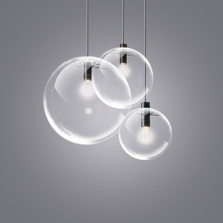 Glass Bubble Lamp Shade Pendant Ceiling Light available in 3 sizes Could do a cluster if not too late to change electrics