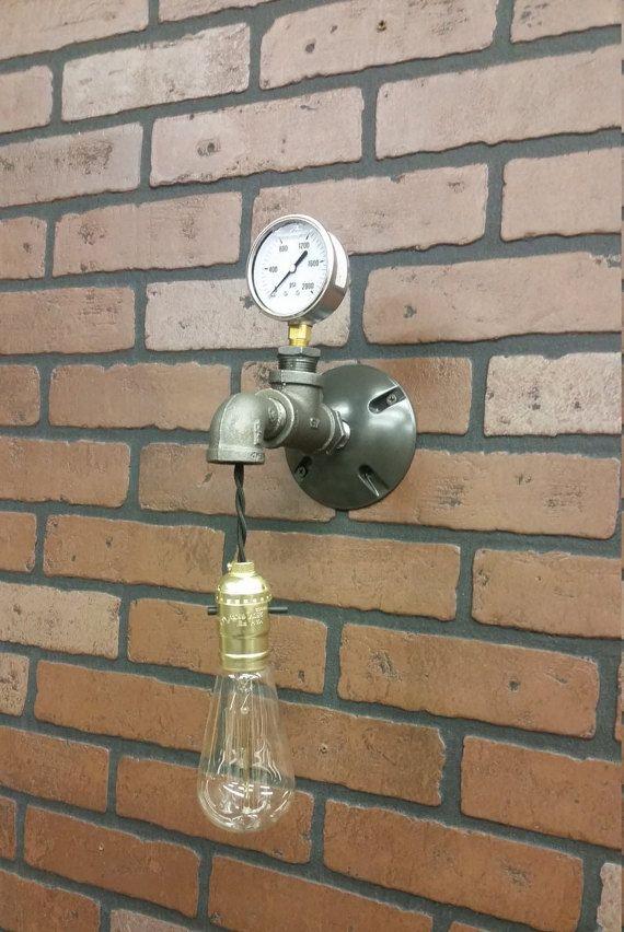 Applique da parete-luce del bagno Industrial di RuralIndustrial