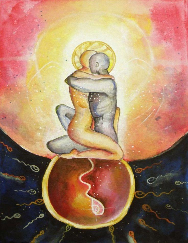 Flammes jumelles, leur amour est une fécondation sacrée qui leur permet de se recréer et de régénérer le monde