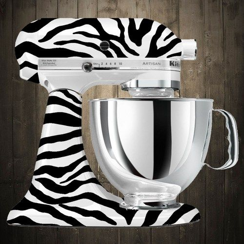 zebra print kitchenaid mixer
