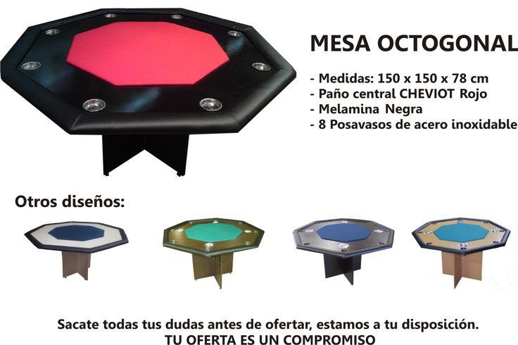 Mesa De Poker Octogonal