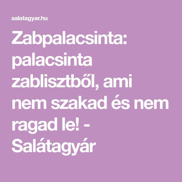 Zabpalacsinta: palacsinta zablisztből, ami nem szakad és nem ragad le! - Salátagyár