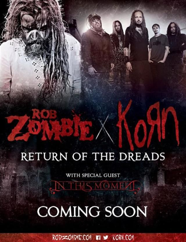 Your Favorite Bands on Tour in 2016: Rob Zombie and Korn