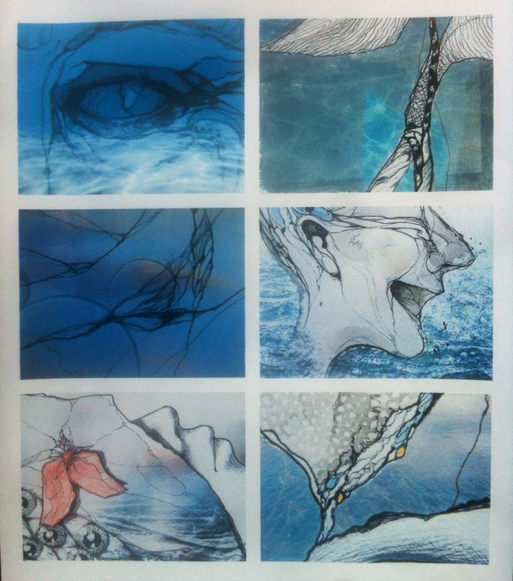 Ink drawings and Photoshop 2014-15
