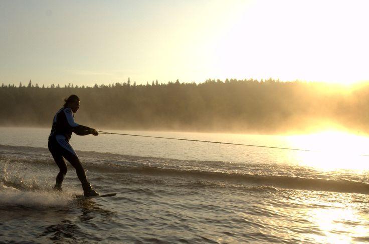 Misty wakeboarding