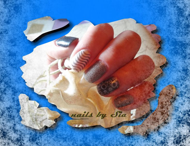 Nail stamp by Sia with ZOYA nail polish