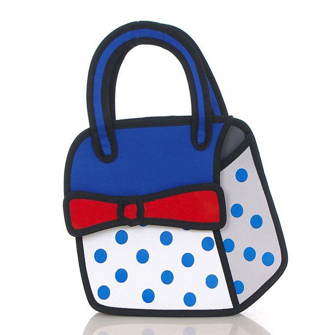 Deze tas is optisch plat, maar is het niet! Retro handtas leuk bij polka dot jurkje. Www.stiksels.com of kom vandaag langs @seinpostweg 36 in IJmuiden
