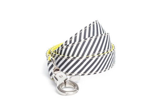 Dog Leash  Nautical Stripes Cotton by charliebegood on Etsy