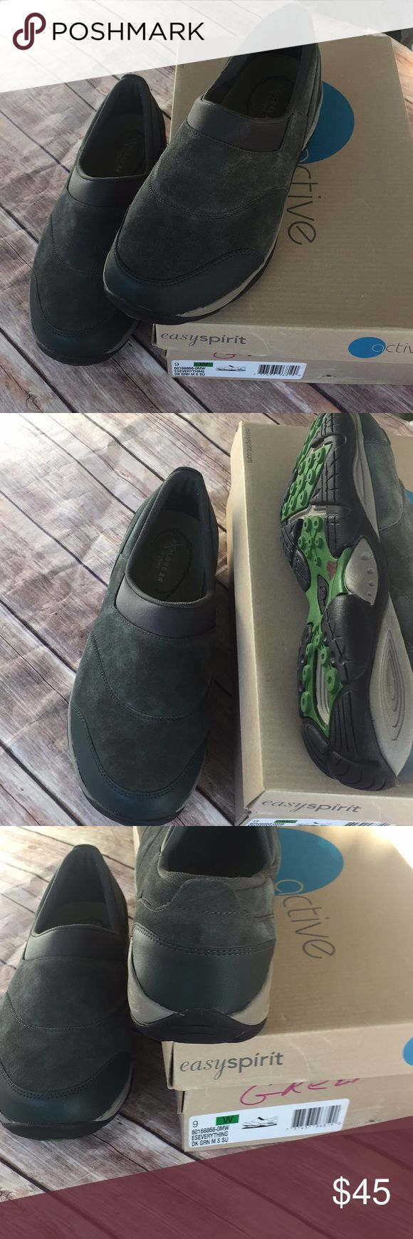 Easy Spirit dark olive green size 9 W New New with box size 9W Easy Spirit Shoes Flats & Loafers