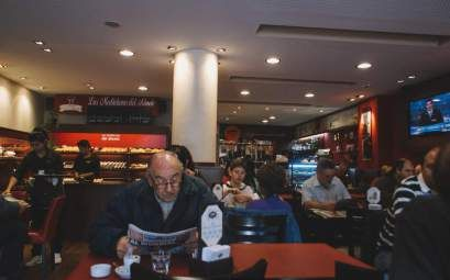 Coffee drinking culture in Argentina. Why I love coffee shops. #coffee #Nelmitravel #culture #Argentina #travel #breakfast