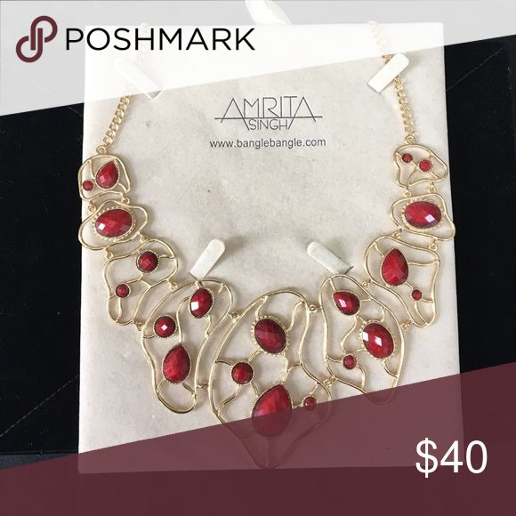 Amrita Singh Red Stone Necklace Amrita Singh Red Stone Necklace Amrita Singh Jewelry Necklaces