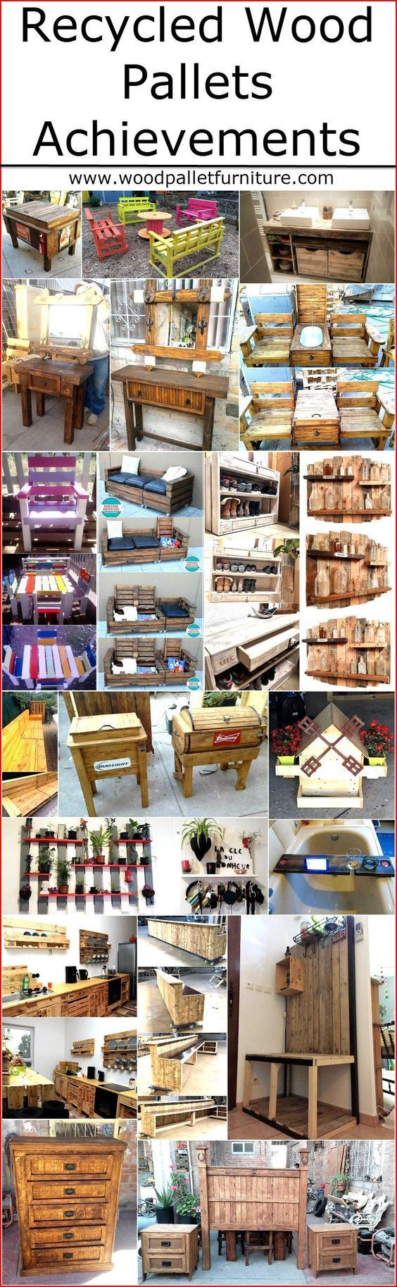 Reshaping the wood pallets is a perfect time pass activity for those who want to spend their free time in a way that benefit them, so the recycled wooden pallet achievements provides benefit by giving the items that are useful in many ways and also helps in saving money if the person needs furniture for the home. We are here with some great wood pallets ideas and achievements that you will love to copy: