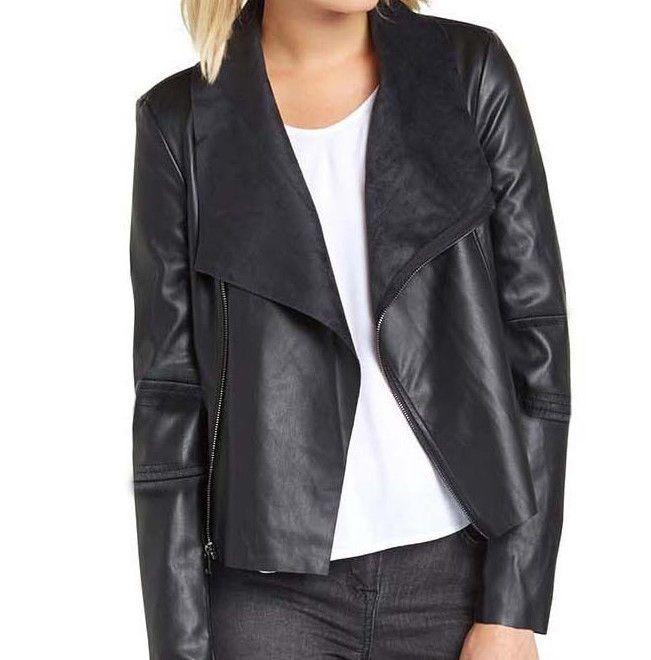 Damen Kunstlederjacke Bikerjacke Jacke schwarz Neu Gr.40 in Kleidung & Accessoires, Damenmode, Jacken & Mäntel | eBay!