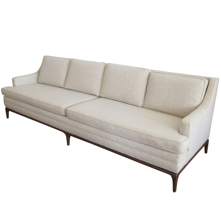 mid century sofa attributed to t h