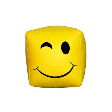 Πουφ Κύβος Smile#Πουφ Poofomania #bean bag#kentima#pouf#poof#