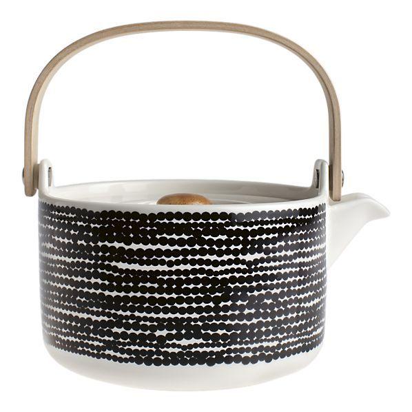 Marimekko Black and White Teapot