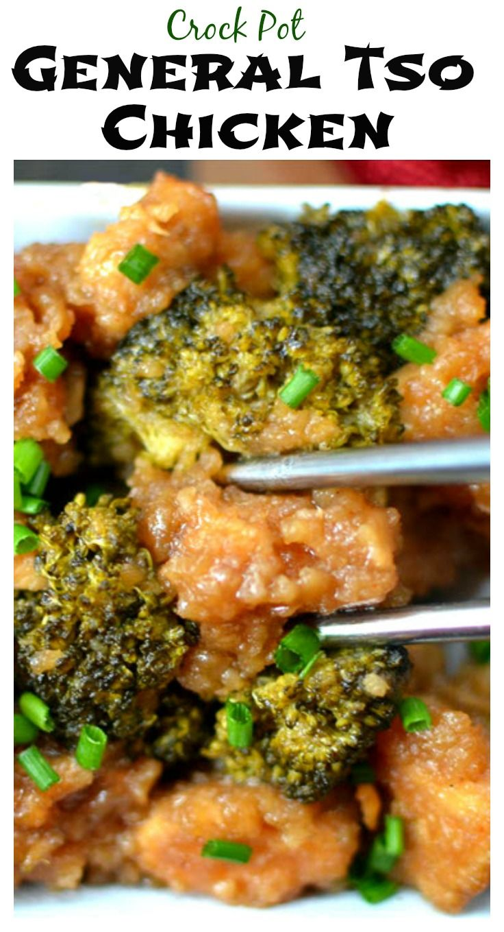This General Tso's chicken tastes BETTER than takeout, and it's healthier! And completely easy to make in the crock pot :)