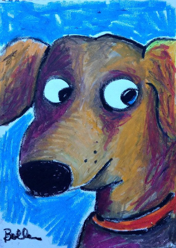 Dog Lab Oil Pastel Drawings For Kids Or Anywhere Brown Dog Labrador