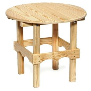 Eucalyptus Wood Outdoor Side Table