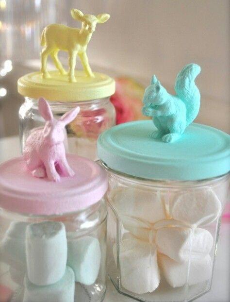 Frascos para bombones frascos de vidrio decorados y - Diy frascos decorados ...