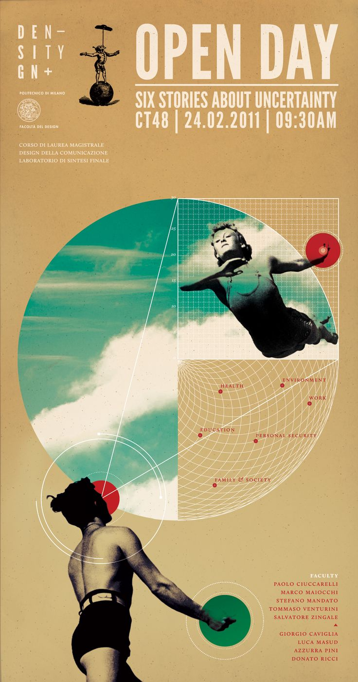 poster, retro, geometric, circle, diagram, typography, collage, composite, overlay, photography