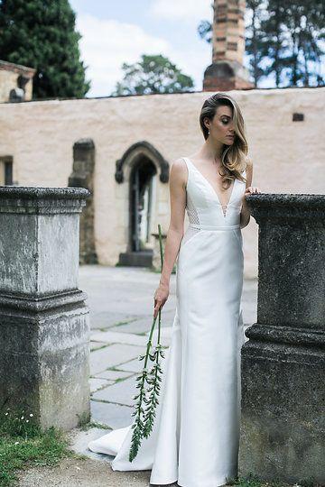 Montsalvat photoshoot by Karen Willis Holmes. Pictured the 'Shelly/Samantha' BESPOKE wedding gown. Follow us - @KWHBridal | Photography - @beksmithjournal . #karenwillisholmes #bridetobe #laceweddingdress #modernwedding #beksmith