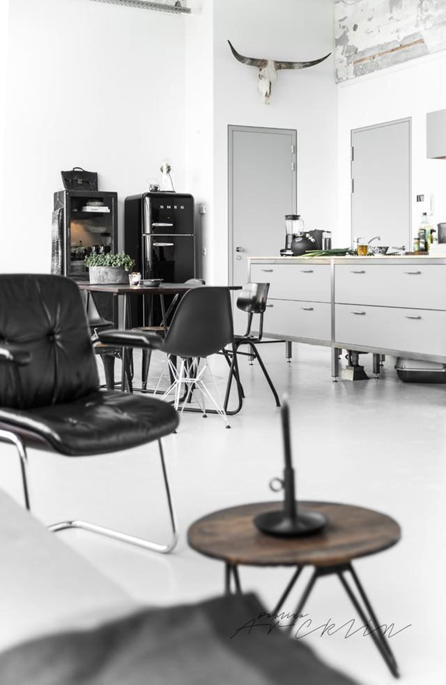 A Total #black U0026 #white #industrial #loft In Eindhoven Captured By @