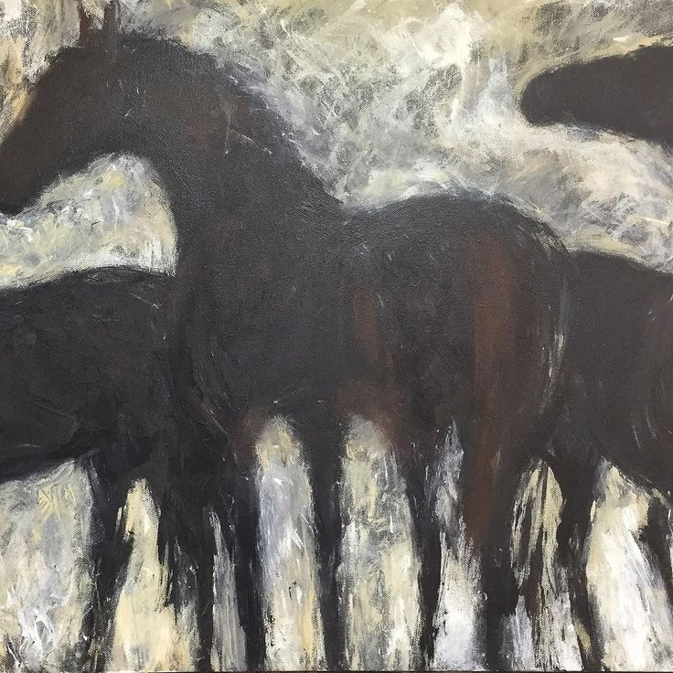 Congratulations to our most recent addition to the gallery roster Montana artist Betsey Hurd. She will be in a group show at 11 opening May 26th. Betsey lives with her horses. She is intimately connected to them and it shows in her sensitive paintings of the herd. #horses #horse #horsesofinstagram #paintings #montanaartist #helenamontana #1plus1is1gallery #artgallery #creativity #artexhibit #allmyrelations #expressionism #horselover #horselove