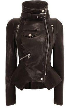 Tailored #Black #Leather #Jacket