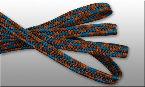 Sageo shigeuchi namikawa style. 3-color : chockolate brown - copper brown - teal blue. Great cord for samurai swords in standard lenth 220cm, also available in other diameters. Strong, thick, deforming resistant, very presentable. Hand made in japanese manufactory, using traditional kumihimo technics.