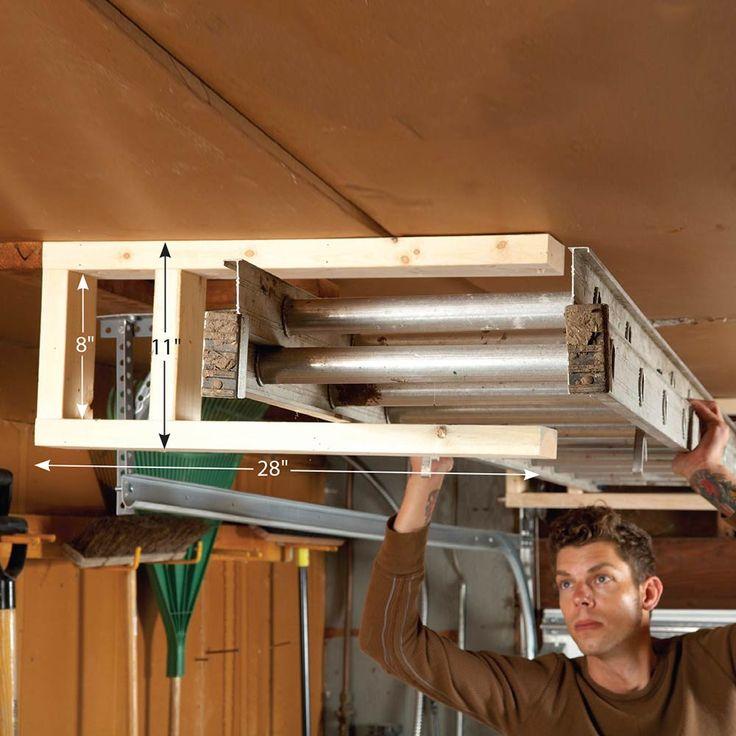 37 best garage ceiling mounted storage images on pinterest for Garage extension designs
