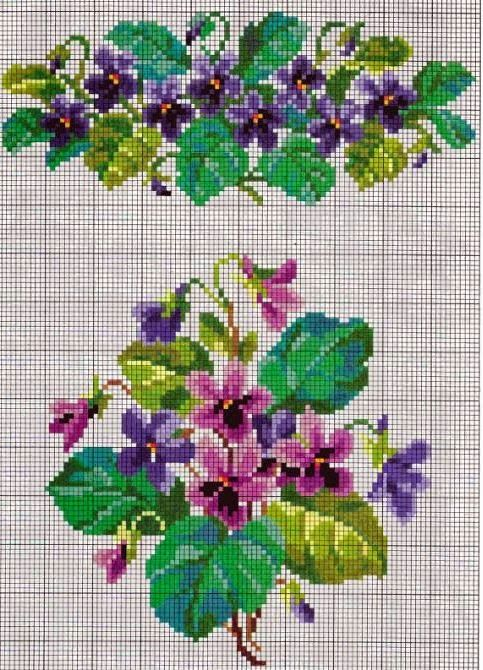 """Lovely heart things: Waiting for Spring """"Violets"""" (collection schemes)"""