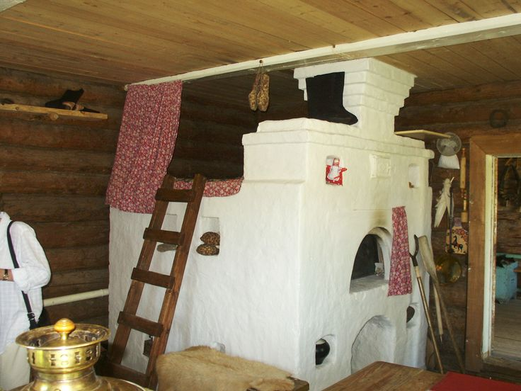 Hey! I want a stove i can sleep on during a cold night!! Russian stoves are so cool!! Yasnaya Polyana - inside coachman's cottage