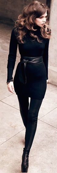 #street #fashion fall all-black @wachabuy