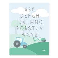 Sne design print ABC green