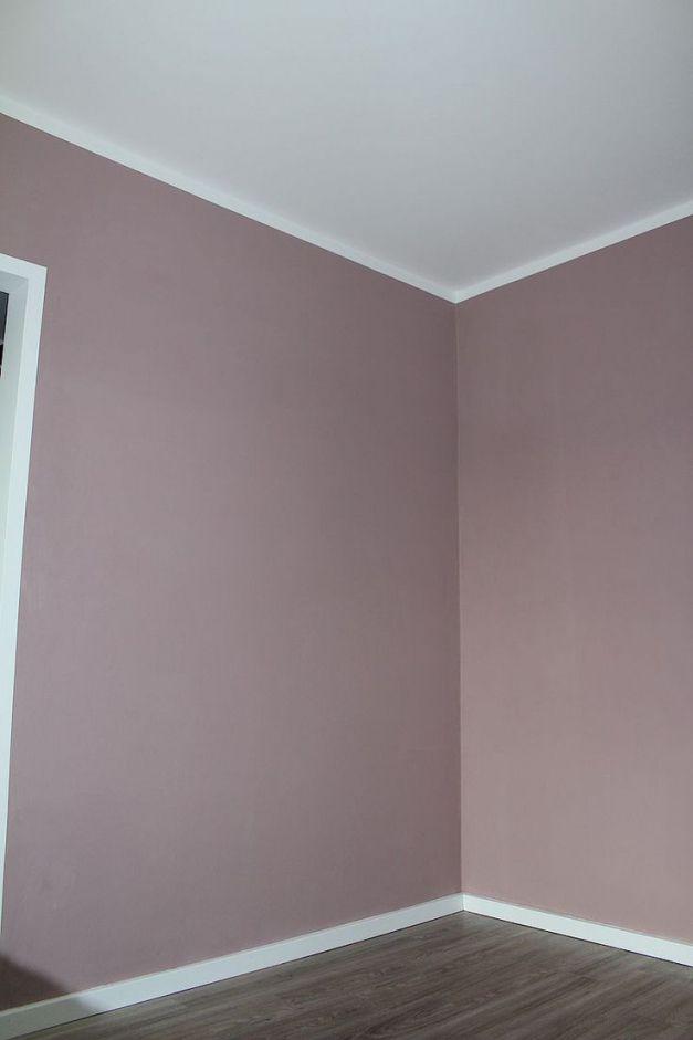 Einfach Nachgemacht Wandgestaltung Wischtechnik. lila #wohnzimmer ...