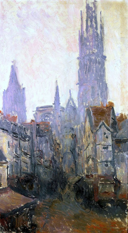 Claude Monet - La Rue de l'Épicerie à Rouen, 1892
