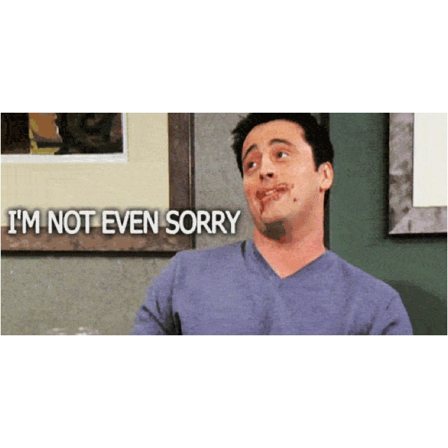 """Joey - Friends """"JOEY DOESN'T SHARE!!!"""""""