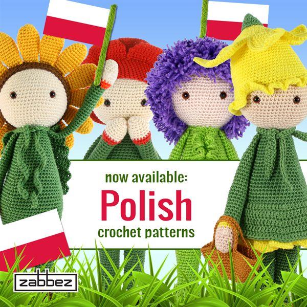 Zabbez Crochet Patterns : Polish flower doll crochet patterns - amigurumi patterns - by Zabbez