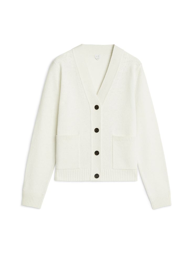 Wool Cardigan - White - Knitwear - ARKET SE