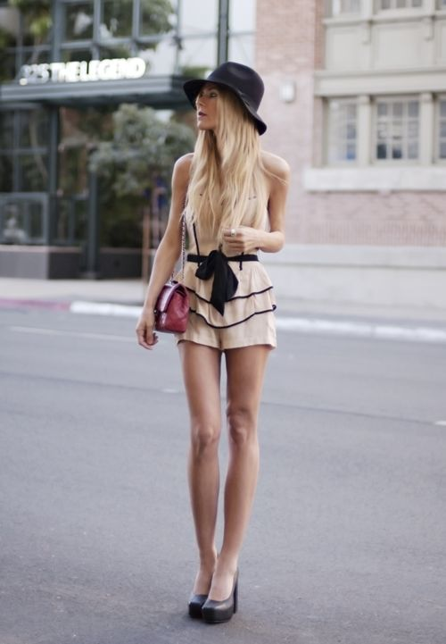 romper.  Great summer look!Chic Outfit, Fashion, Summer Looks, Style, Corsets, Rompers, Clothing, Vintage Rings, Vintage Hats