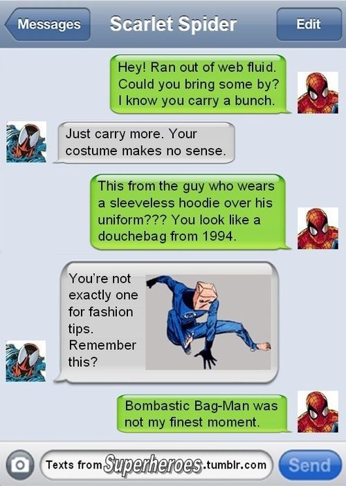 Superhero text messages - Imgur