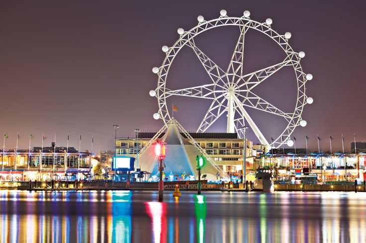 The #MelbourneStar on the #Yarra River, #Australia- reflections of #light on #water